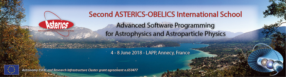 CNRS-LAPP (France) sets the scene for the annual ASTERICS - OBELICS International Summer School 4- 8 June 2018
