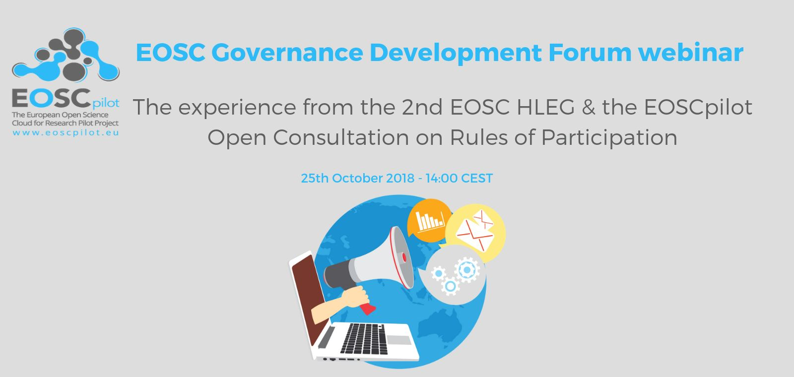 EOSC Governance Development Forum webinar – 25th October 2018