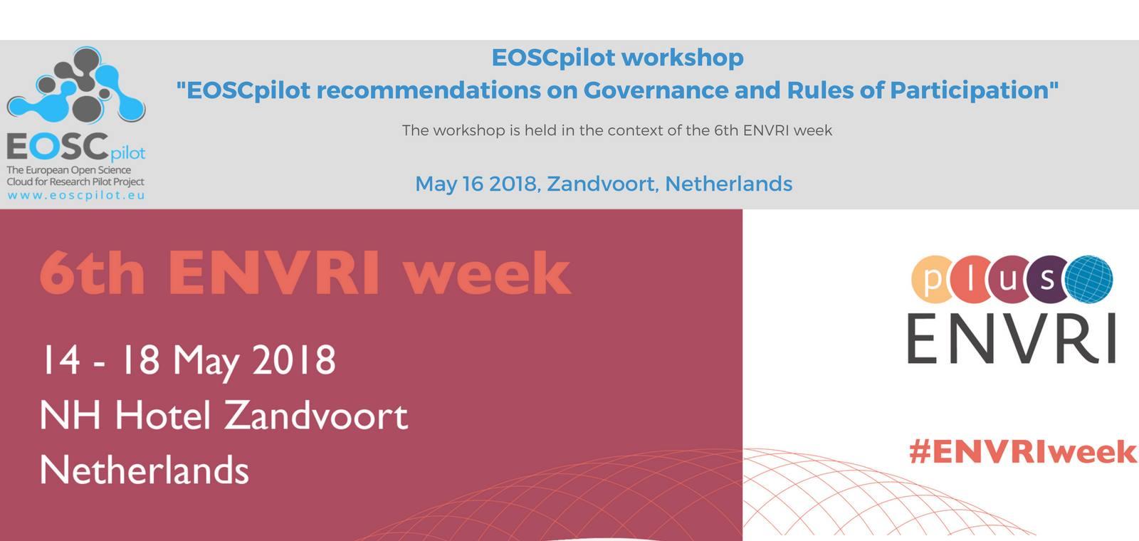 ENVRI week´s EOSCpilot workshop