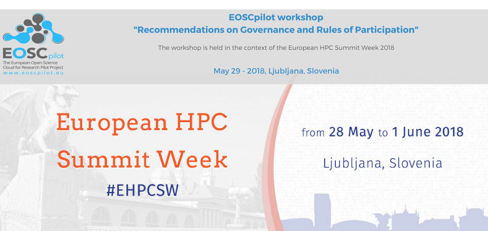 EOSCpilot workshop: recommendations on Governance and Rules of Participation