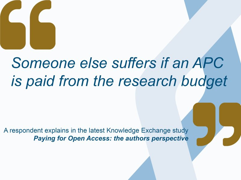 Paying for Open Access: two new Open Access Journal Reports published by Knowledge Exchange